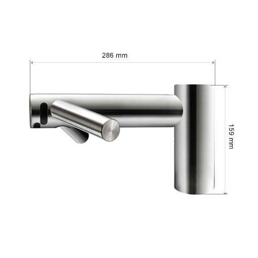 Dyson Tap kurze Version Massblatt höhe 159mm